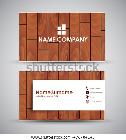 Design business card company individual template stock photo photo design of the business card for the company or the individual a template with wooden reheart Gallery
