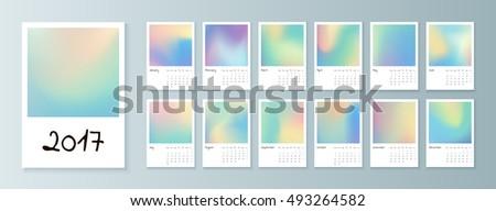 template of calendar
