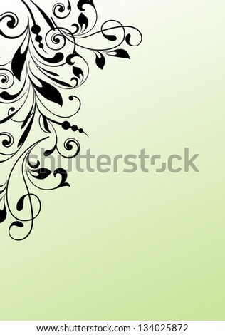 Design ornamental element in abstract style vectorized - stock vector