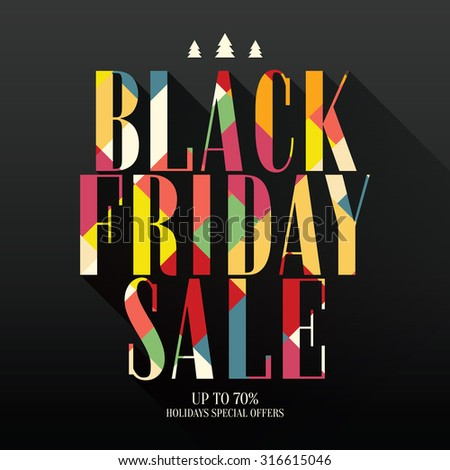 Design poster for black friday sales - stock vector