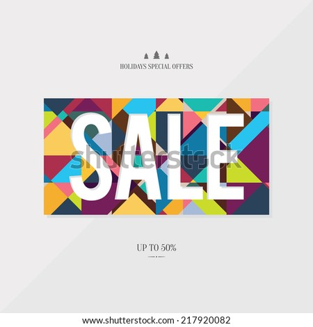 Design poster for sales and promotion - stock vector