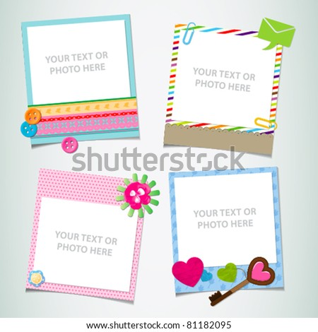 design-ready photo frame - stock vector