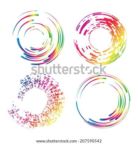 Design round elements set. Vector. EPS 10.  - stock vector