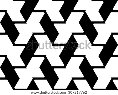 Design seamless geometric pattern. Abstract monochrome background. Vector art - stock vector