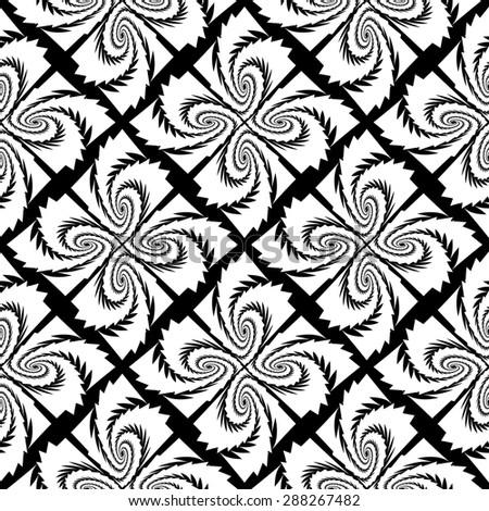 Design seamless monochrome decorative pattern. Abstract geometric background. Vector art - stock vector