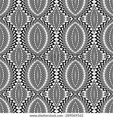 Design seamless monochrome ellipse pattern. Abstract warped textured background. Vector art. No gradient - stock vector
