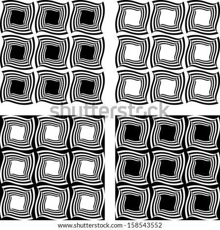 Design seamless monochrome pattern. Vector art
