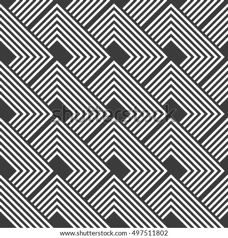 Design seamless monochrome striped pattern. Abstract textured background.