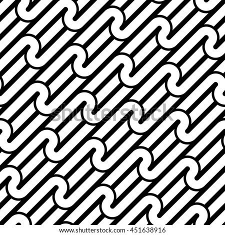Design seamless monochrome waving pattern. Abstract background. Vector art - stock vector