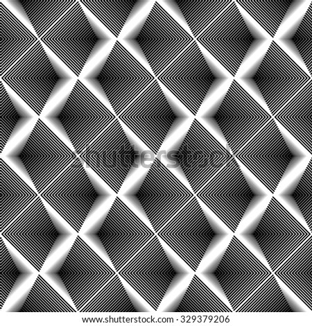 Design seamless monochrome zigzag geometric pattern. Abstract striped textured background. Vector art. No gradient - stock vector