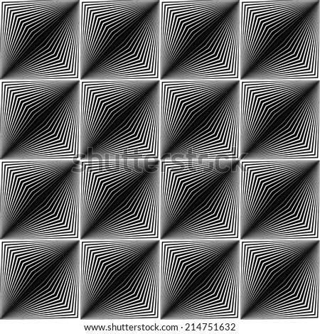 Design seamless square trellised pattern. Abstract geometric monochrome background. Speckled texture. Vector art - stock vector