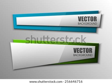 Design shape Origami vector banner - stock vector