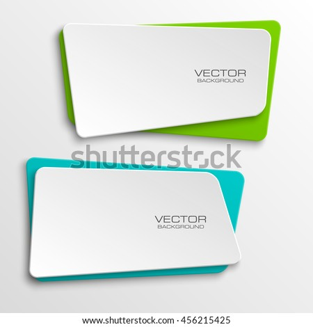 Design Shape Origami Vector Banner The Original Form As Two Squares With Rounded Corners