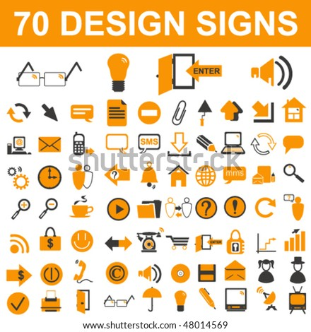 Design Signs Set - stock vector