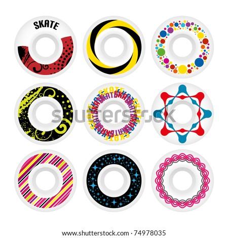 Design skate wheels. Vector illustration. - stock vector
