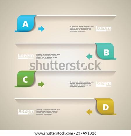 design template - stock vector