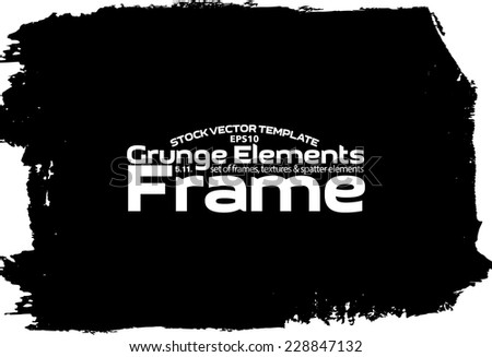 Design template.Abstract grunge frame texture. Stock vector set - easy to edit