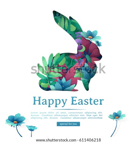 design template banner happy easter silhouettesのベクター画像素材