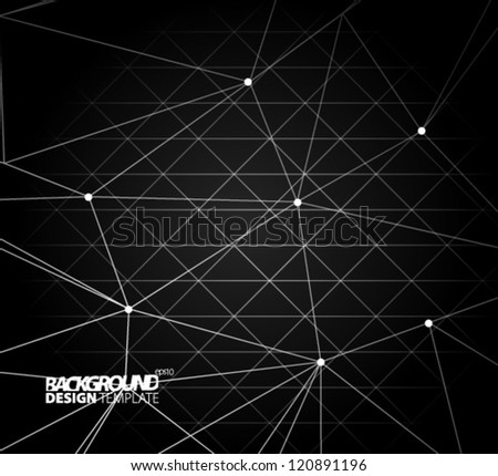 Design Template - eps10 Abstract Lines Background - stock vector