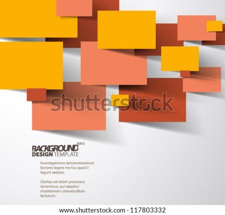 Design Template - eps10 Business Tablets Shape Background - stock vector