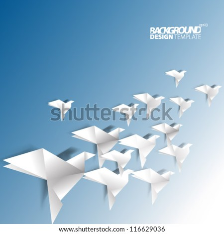 Design Template - eps10 Floating Origami Background