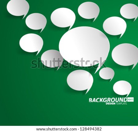 Design Template - eps10 Floating Speech Bubble Background - stock vector