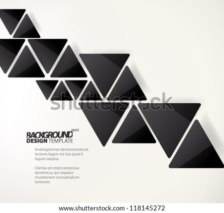 Design Template - eps10 Glossy Black Geometric Background - stock vector