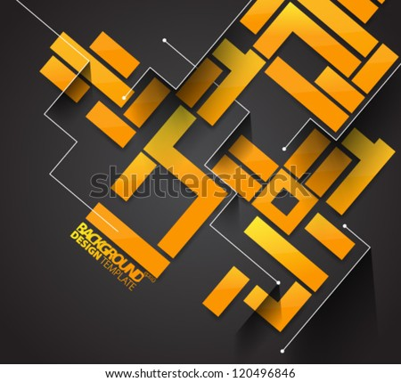 Design Template - eps10 Glossy Geometric Background - stock vector