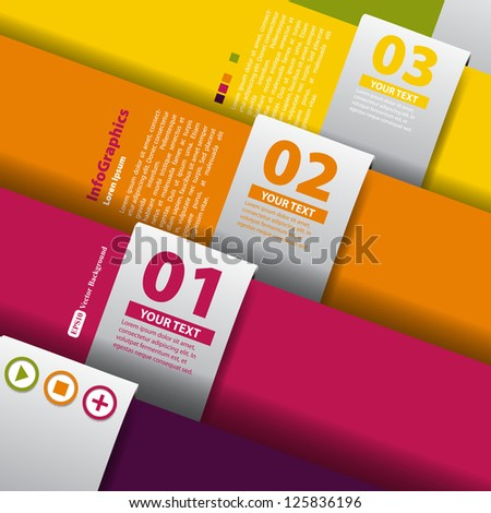 Design template for infographics - stock vector