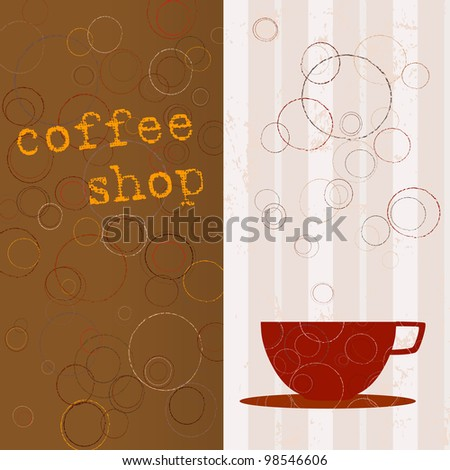 design template for restaurant and coffee shop, free copy space - stock vector