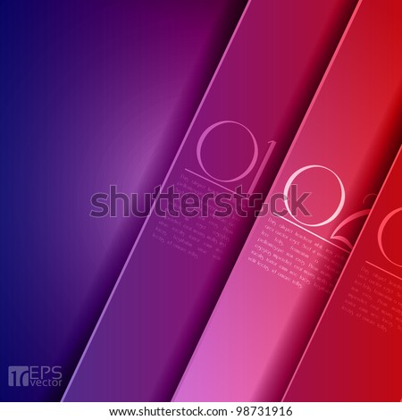Design template - graphic or website layout vector - purple to red - stock vector