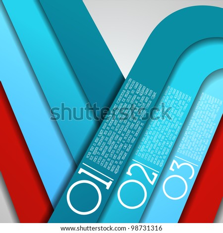 Design template - graphic or website layout vector - retro lines - stock vector