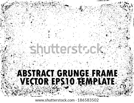 Design template. Grunge frame texture. - stock vector