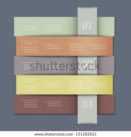 Design template in retro colors for infographics, website templates and graphic business design. Vector EPS10