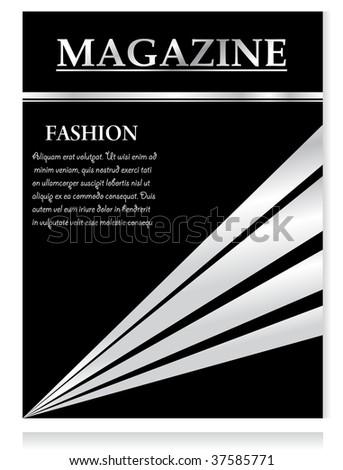 Design template, magazine, vector illustration - stock vector