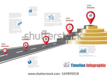design template road map timeline infographic stock vector 569890018 shutterstock. Black Bedroom Furniture Sets. Home Design Ideas