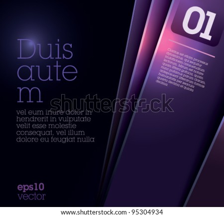 Design Template - Suitable for brochure design or website - stock vector