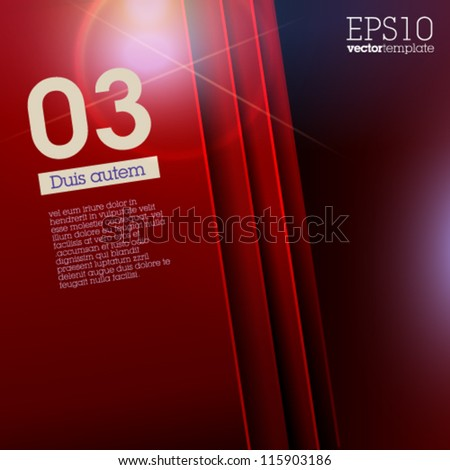 Design Template - Suitable for brochure design or website / red version - stock vector