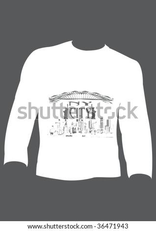 design template t-shirt for men - stock vector