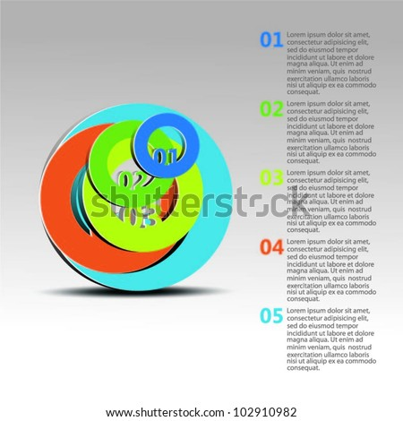 Design template vector. Vector - stock vector