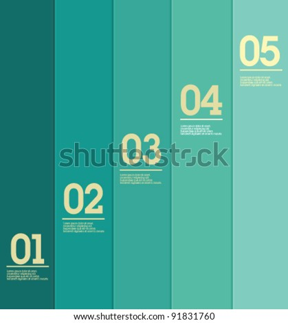 Design template - vertical blue lines / graphic or website layout vector