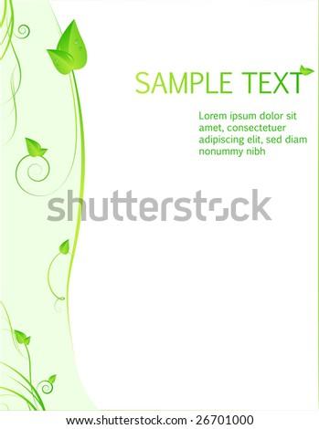 design template green leaves swirl stock vector 26701000 shutterstock