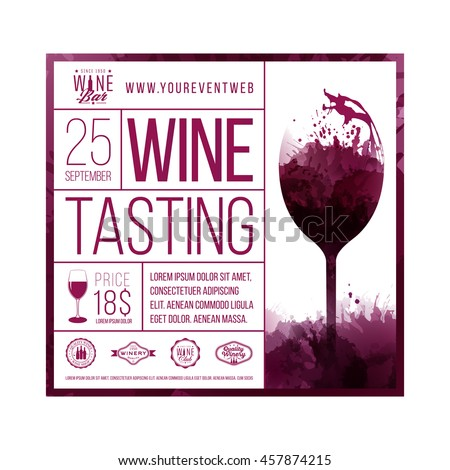 Design Template Sample Text Promoting Your Stock Vector Royalty - Wine tasting event flyer template free