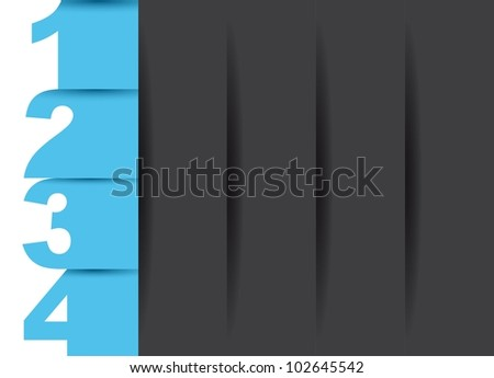 design templates with numbers with space for copy. vector - stock vector