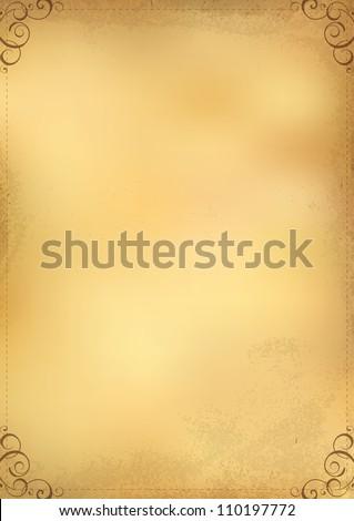 Design the menu background. Vintage paper - stock vector