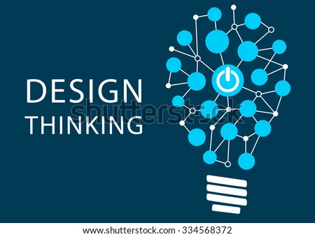 Design thinking concept. Vector illustration background of new methodology for problem solving - stock vector