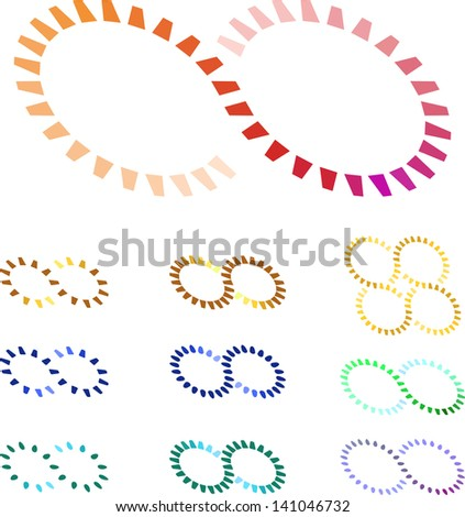 Design vector circular gears logo element. Colorful abstract loading pattern. You can use the machinery, factories, games, app, clock, electronic or creative design concepts. - stock vector