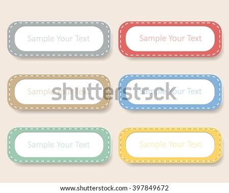 Design vintage label notes, vector illustration. - stock vector