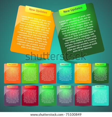 design website elements - stock vector