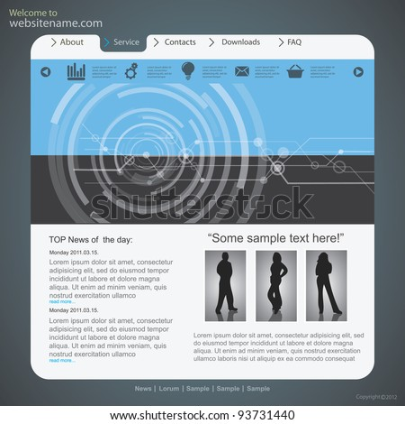 Design website template,  vector - stock vector